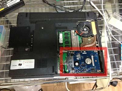 富士通FMVノートPCの分解方法、ハードディスク交換