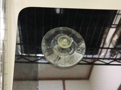 imacを分解手順その1。吸盤を使って、ガラスカバーをゆっくり外します。