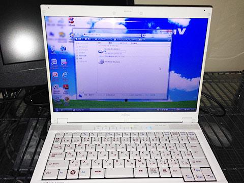 富士通ノートパソコンFMV-BIBLOのハードディスク交換