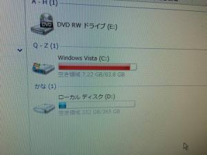 データでいっぱいのハードディスク